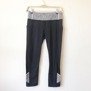 Lululemon Pace Rival Crop in Miss Mosaic Black